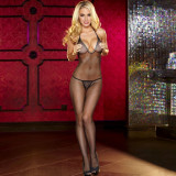 HUSTLER Lingerie Crotchless Fishnet Bodystocking